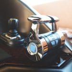 steering wheel on a luxury yacht